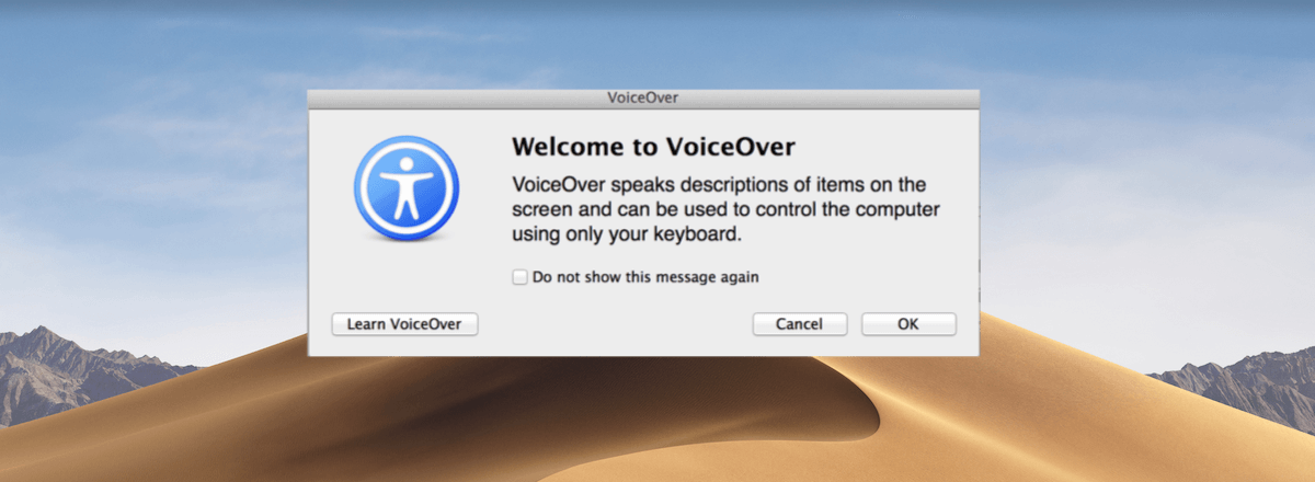 illustrationsbillede af Mac Voiceover program