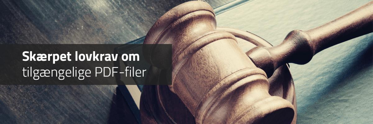 illustration der viser nye lovkrav om tilgængelige PDF-filer